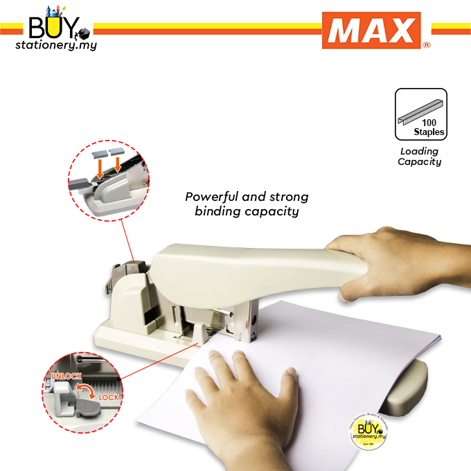 Max Heavy Duty Stapler HD 12N-17/24 - (PCS)