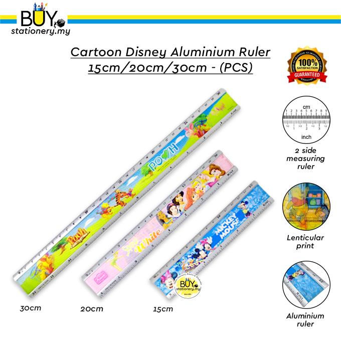 Cartoon Disney Aluminium Ruler 15cm / 20cm / 30cm - (PCS)