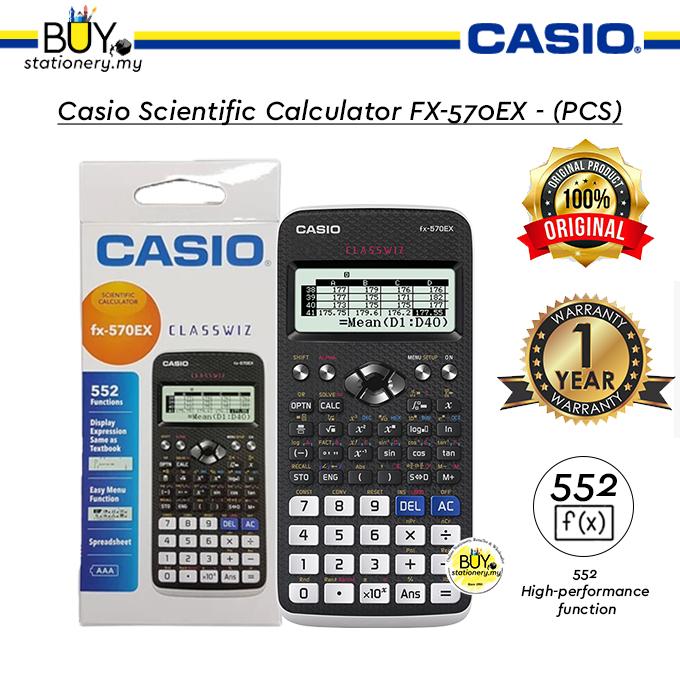 Casio Scientific Calculator FX-570EX - (PCS)