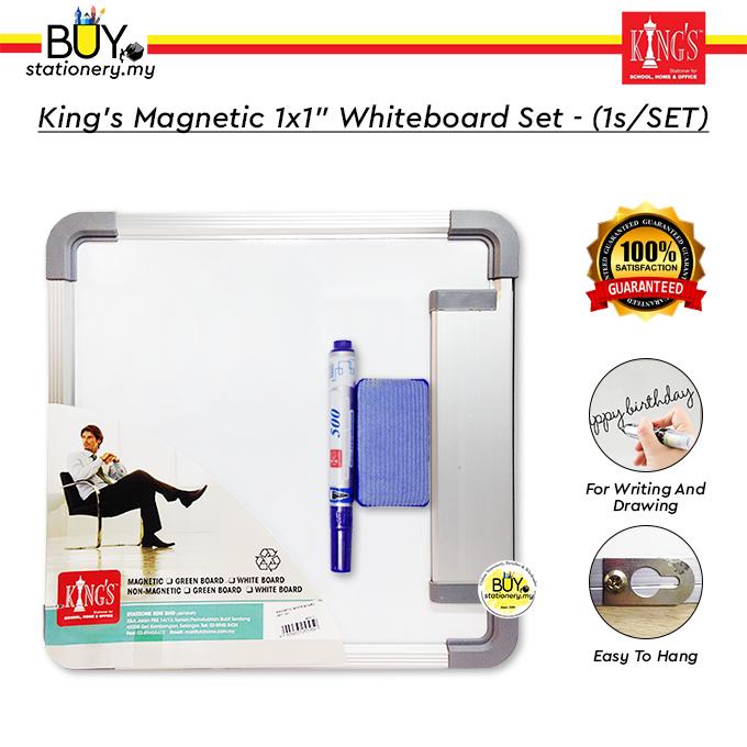 "King's Magnetic 1x1"" Whiteboard Set - (1s/SET)"