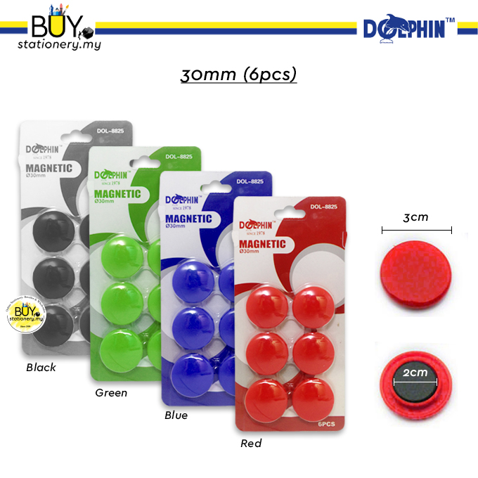 Dolphin Magnetic Button 15mm/20mm/30mm - (CARD)