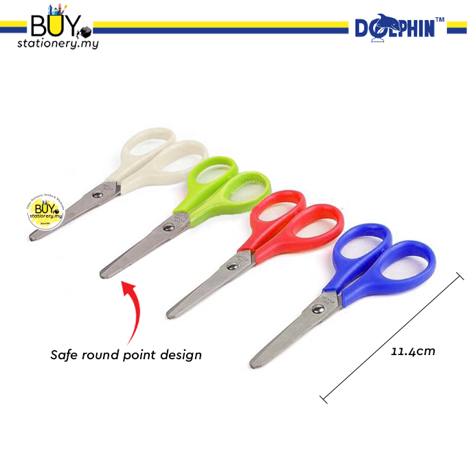 Dolphin Student Scissors 114mm 8375 - (1s/CARD)