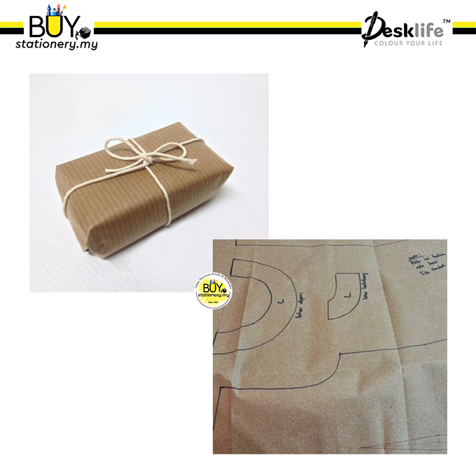 Buystationery.myDesklife Brown Paper / Kertas Minyak / Coklat 88 x 119cm 50gsm - (10s/ROLL)[Spend RM70 for Free Gift]