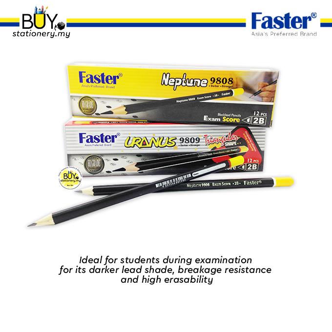 Faster 2B Pencil Neptune 9808/ Uranus 9809 - (12s/DZ)