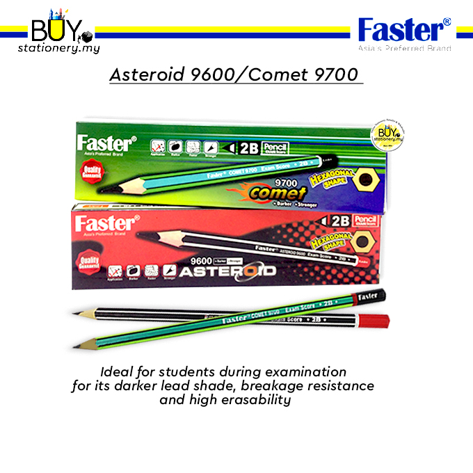 Faster 2B Pencil Asteroid 9600/ Comet 9700 - (12s/DZ)